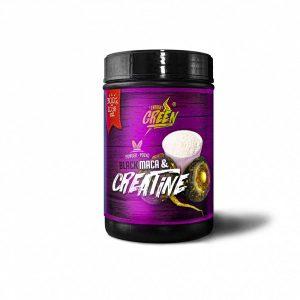 black maca and creatine powder