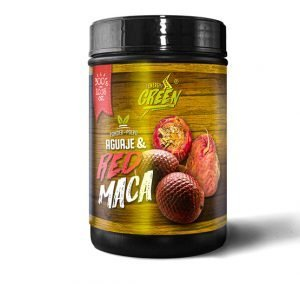 red maca and aguaje powder