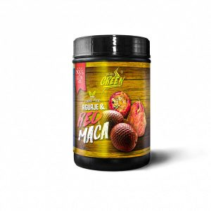 red maca and aguaje powder