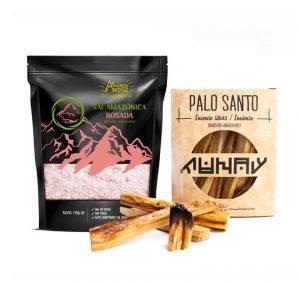 Pack armonia (Palo santo 50gr y sal amazonica )