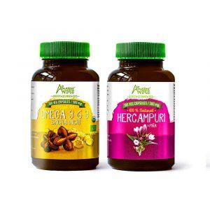 Zero cholesterol pack ( sacha inchi oil and hercampuri capsules)