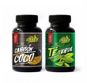 Cápsulas de carbon activado y te verde