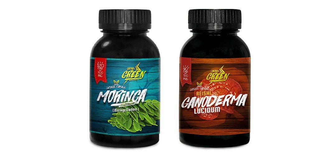 moringa and reishi capsules