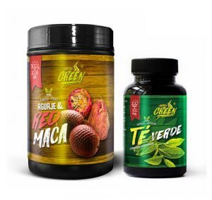 Green Tea capsules and Aguaje + Red Maca Powder