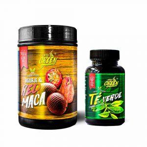 Pack fitness para ellas  ( Te verde en capsulas y Maca roja + Aguaje en polvo)