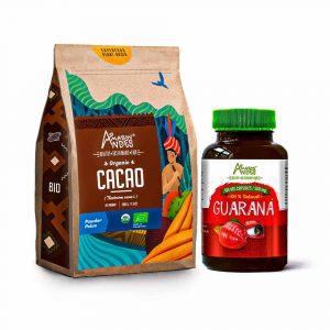 Pack más vitalidad ( Cacao en polvo y Cápsulas de guaraná)