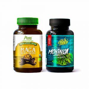 Moringa y Maca negra en cápsulas
