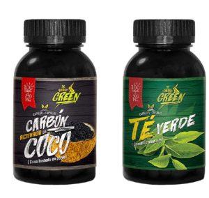 carbon activado capsulas y Te verde capsulas